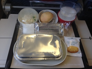 Cathay Pacific Economy Class Food