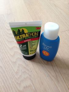 Mini sunscreen and insect repellent