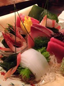 Mouth-watering sashimi