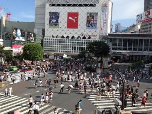 The infamous Shibuya crossing