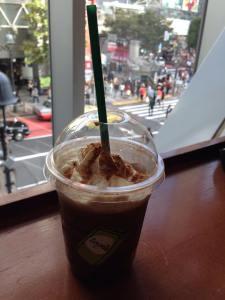 A seat at Starbucks, Shibuya
