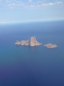 Flying over the magnetic island of Es Vedra