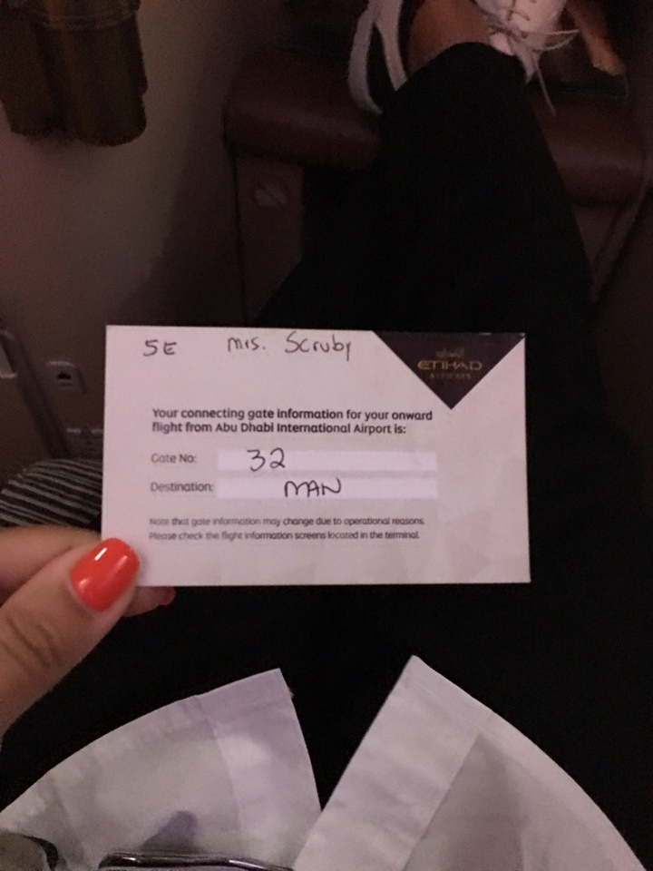 Etihad's personal touch of a flight connection reminder