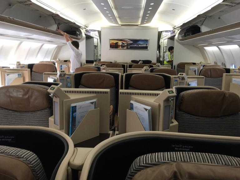 Etihad Airways' Business Class Cabin